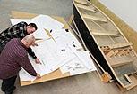 Zdjęcia z procesu projektowania i produkcji łodzi